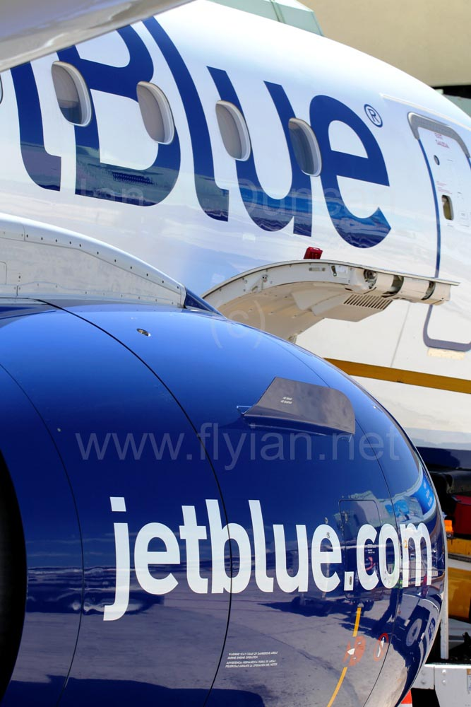 JetBlue E-190 engine, fuselage SDQ