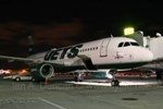 Jets 320 at night