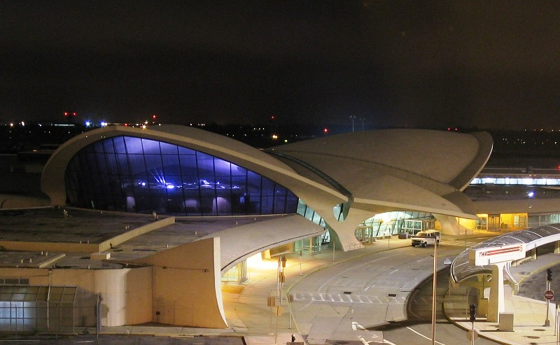 TWA's JFK Terminal at night