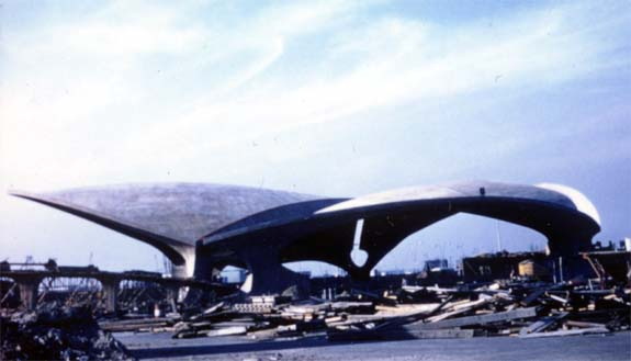 TWA Terminal under construction